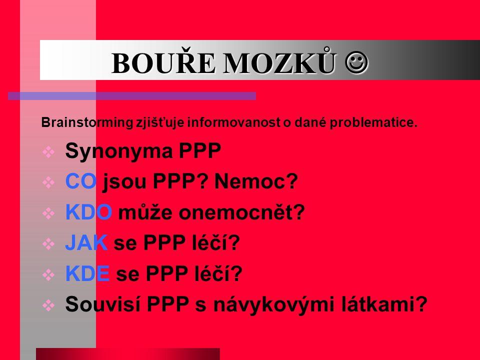 BOUŘE MOZKŮ  Synonyma PPP CO jsou PPP Nemoc KDO může onemocnět