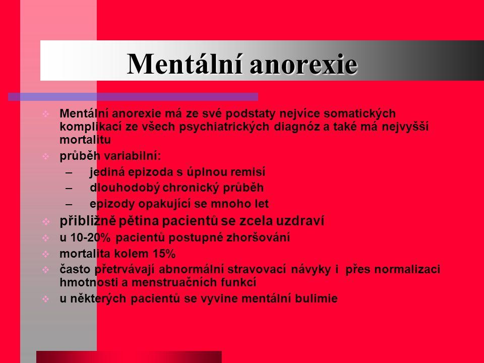 Mentální anorexie přibližně pětina pacientů se zcela uzdraví