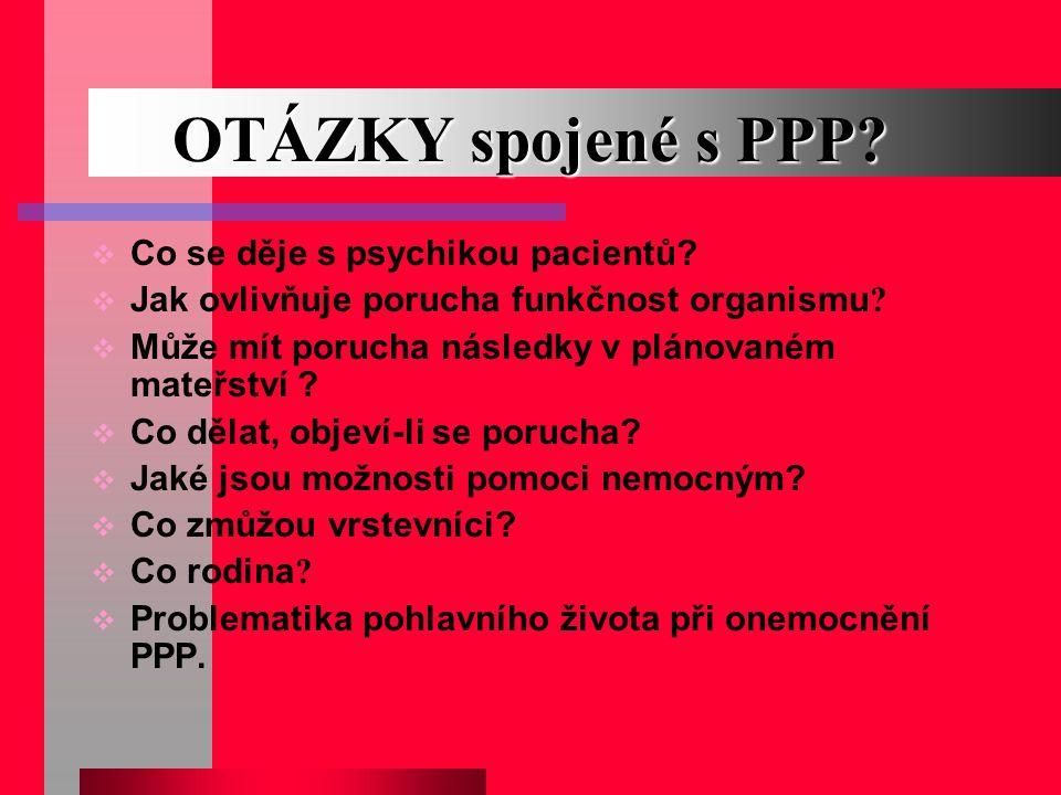 OTÁZKY spojené s PPP Co se děje s psychikou pacientů