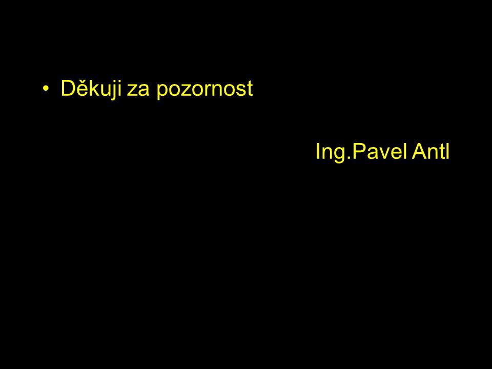 Děkuji za pozornost Ing.Pavel Antl