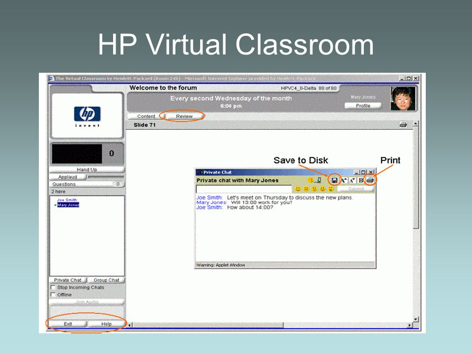 HP Virtual Classroom