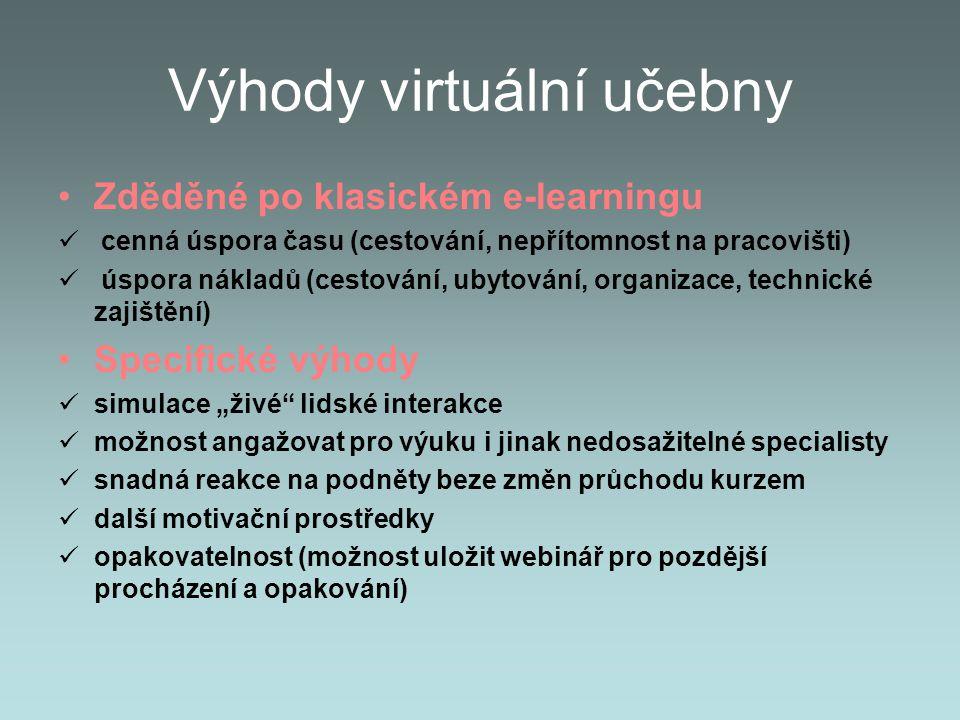 Výhody virtuální učebny