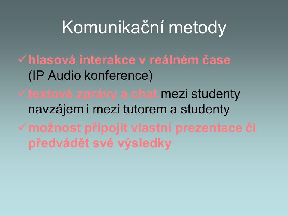 Komunikační metody hlasová interakce v reálném čase (IP Audio konference)