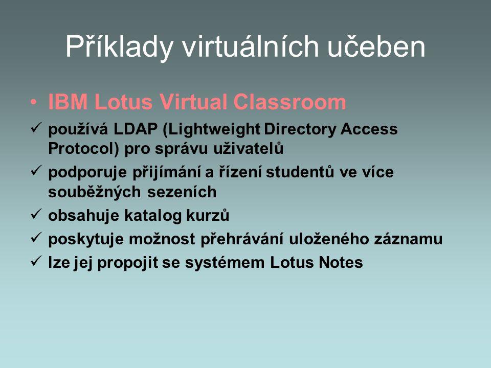Příklady virtuálních učeben