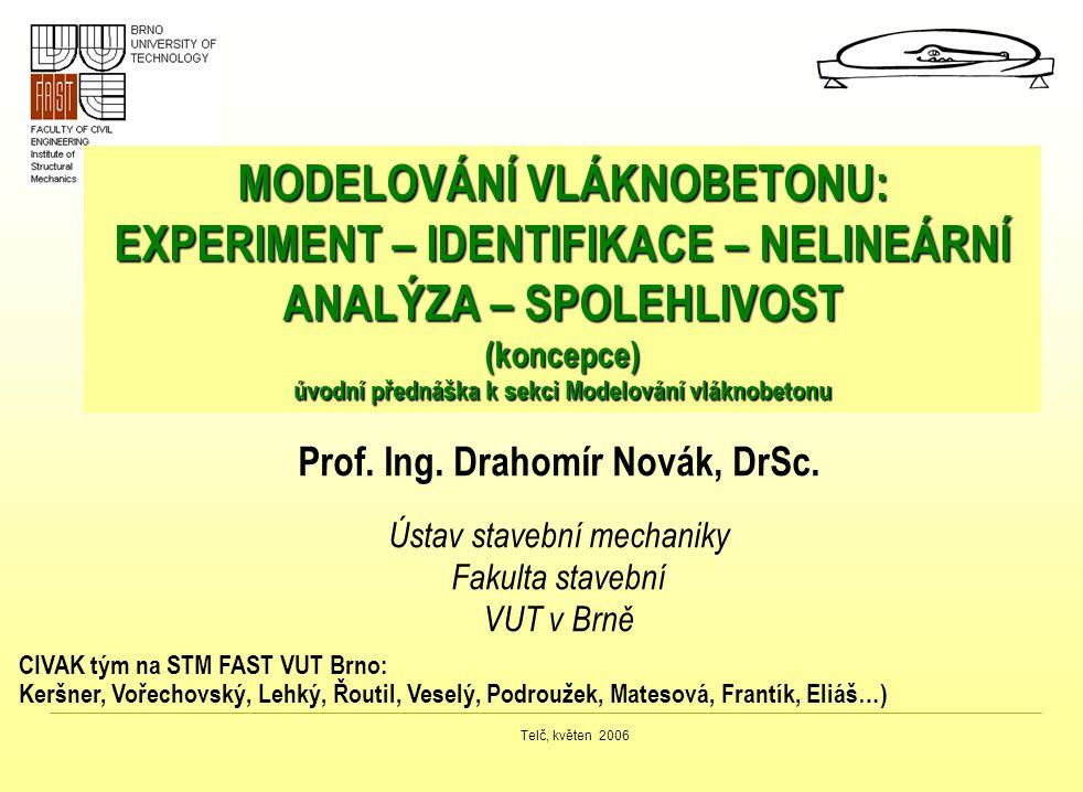 MODELOVÁNÍ VLÁKNOBETONU: EXPERIMENT – IDENTIFIKACE – NELINEÁRNÍ ANALÝZA – SPOLEHLIVOST (koncepce) úvodní přednáška k sekci Modelování vláknobetonu