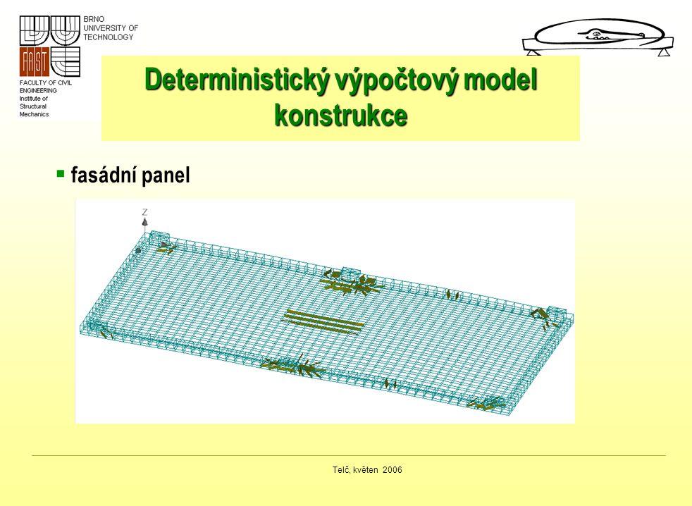 Deterministický výpočtový model konstrukce
