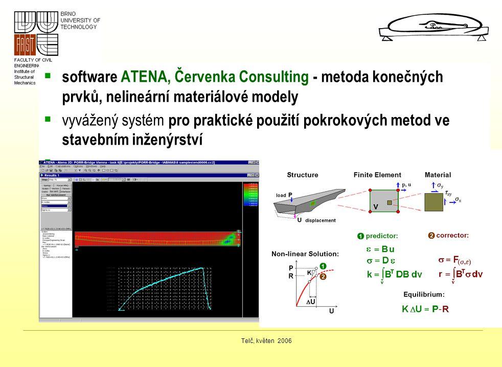 software ATENA, Červenka Consulting - metoda konečných prvků, nelineární materiálové modely