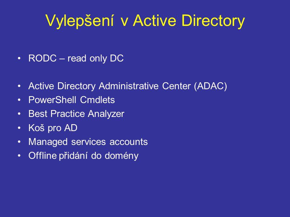 Vylepšení v Active Directory