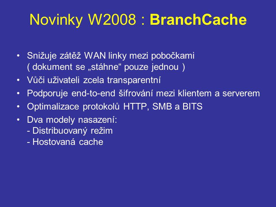Novinky W2008 : BranchCache