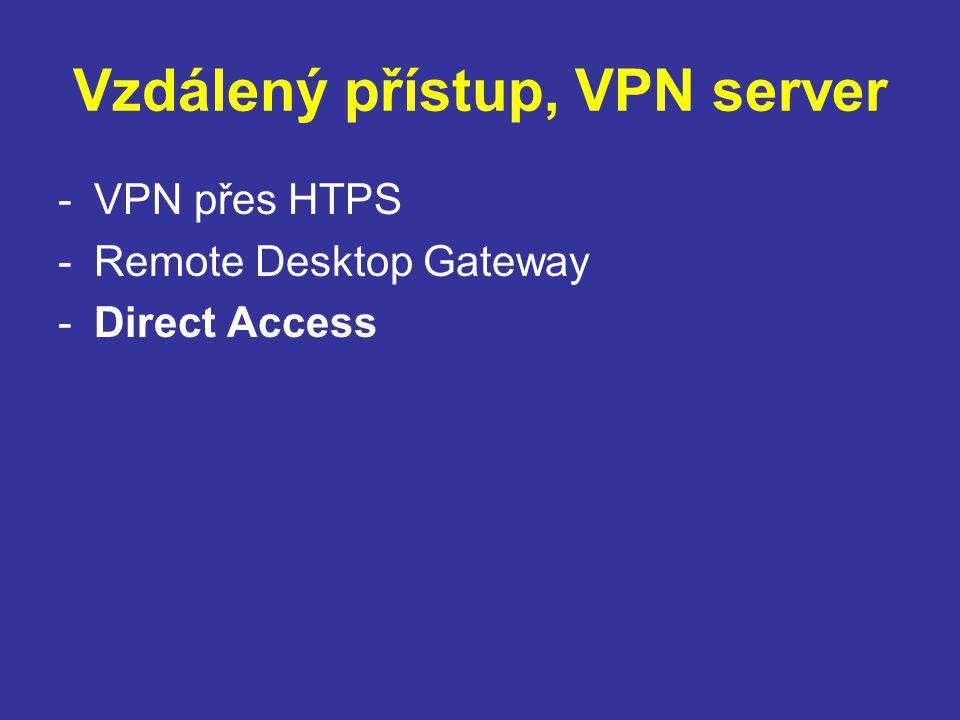 Vzdálený přístup, VPN server