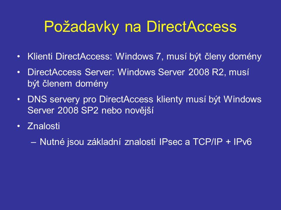 Požadavky na DirectAccess
