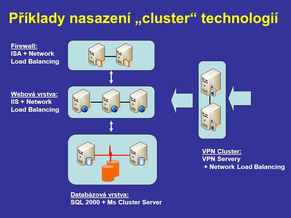 """Příklady nasazení """"cluster technologií"""