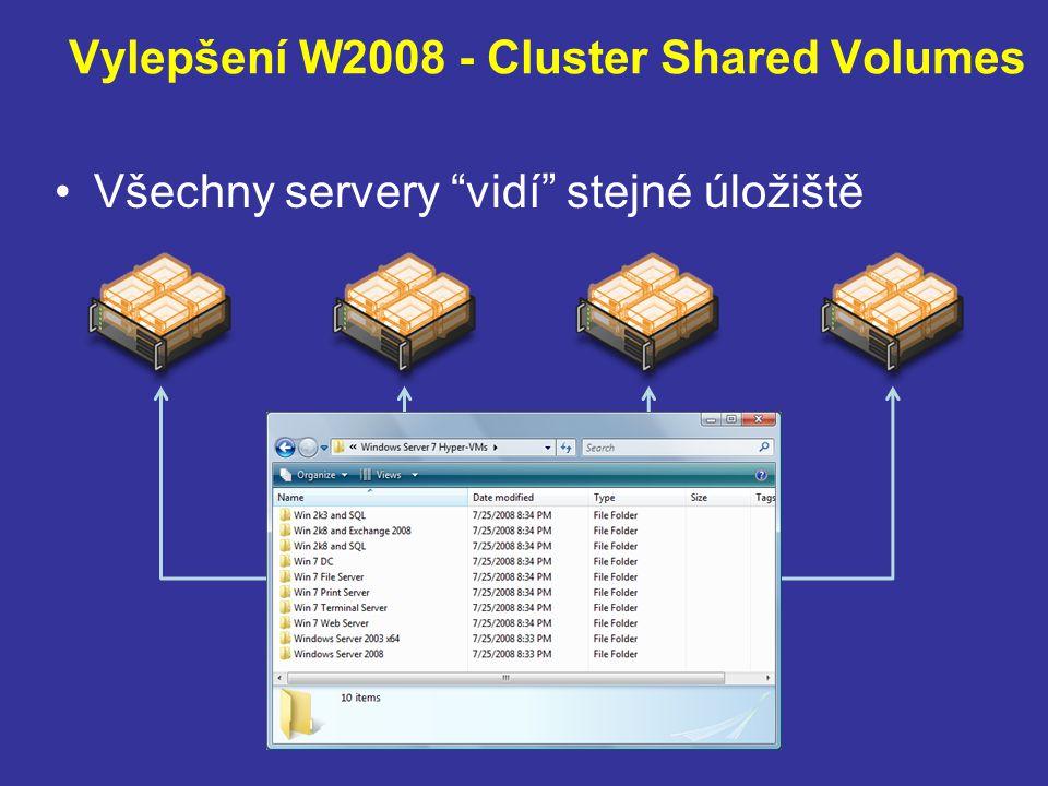 Vylepšení W2008 - Cluster Shared Volumes