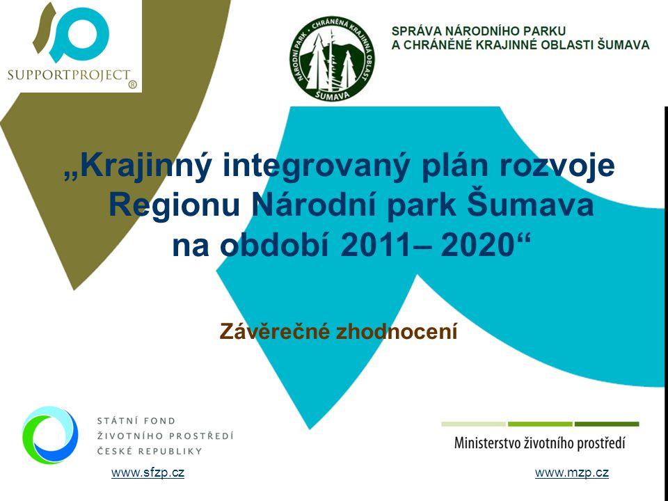 """STRUČNÉ ÚDAJE O FIRMĚ """"Krajinný integrovaný plán rozvoje Regionu Národní park Šumava na období 2011– 2020"""