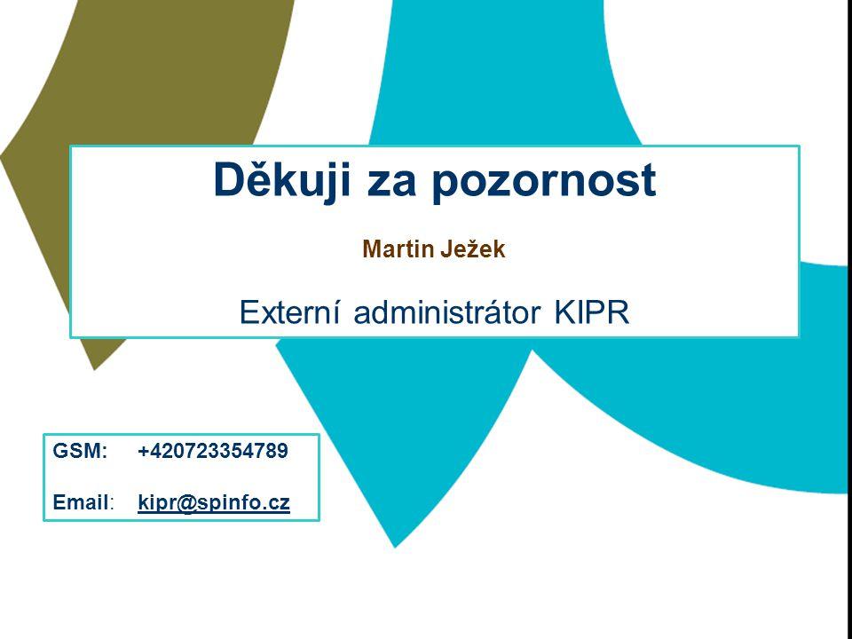 Externí administrátor KIPR