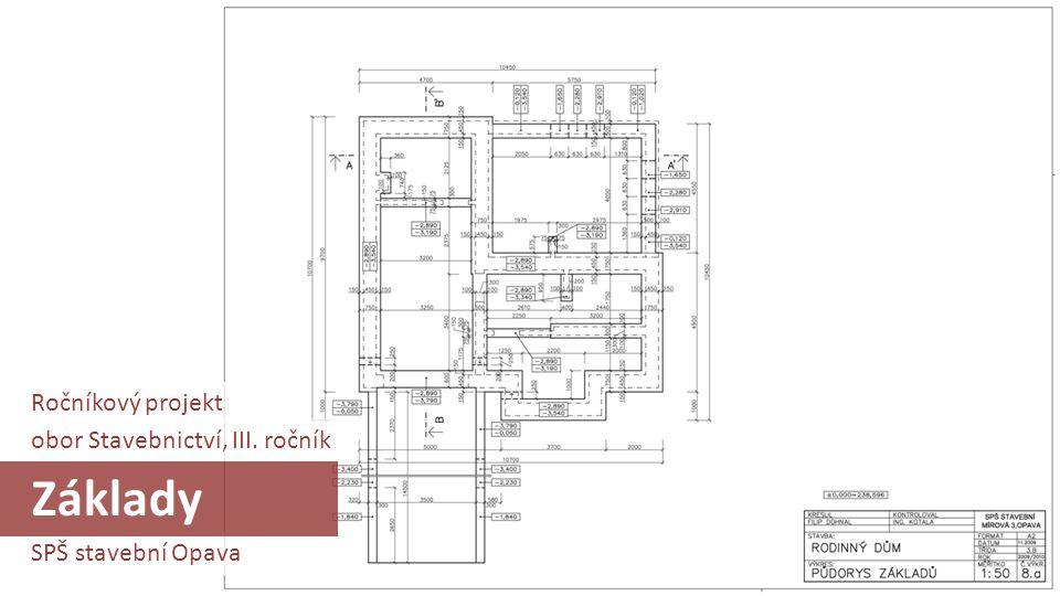 Základy Ročníkový projekt obor Stavebnictví, III. ročník