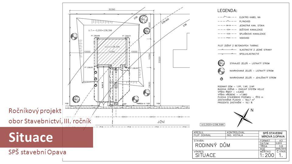 Situace Ročníkový projekt obor Stavebnictví, III. ročník
