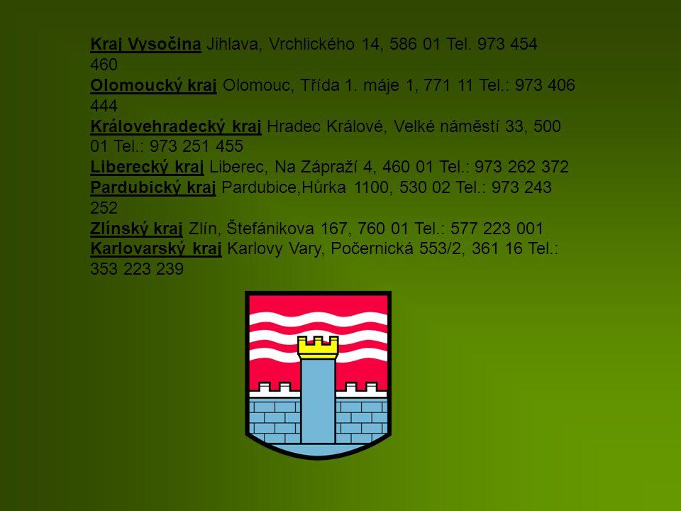 Kraj Vysočina Jihlava, Vrchlického 14, 586 01 Tel. 973 454 460