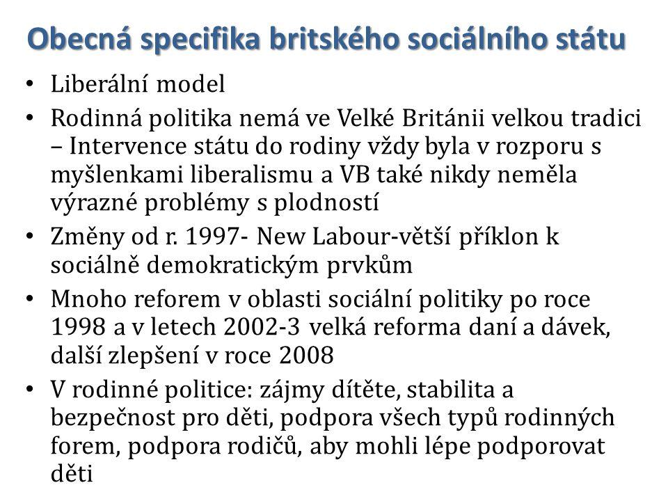 Obecná specifika britského sociálního státu