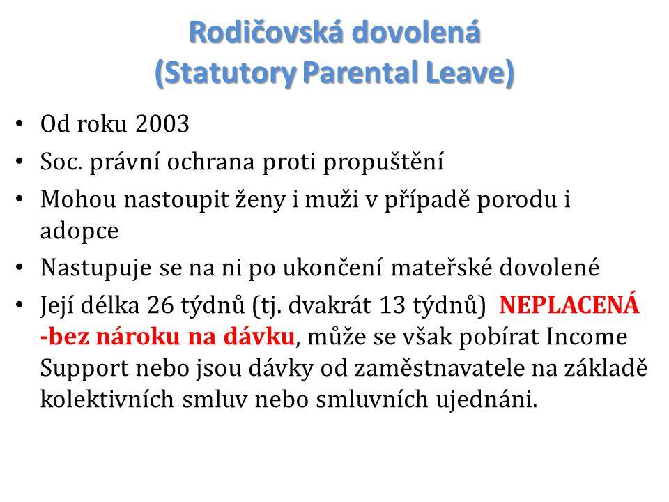 Rodičovská dovolená (Statutory Parental Leave)