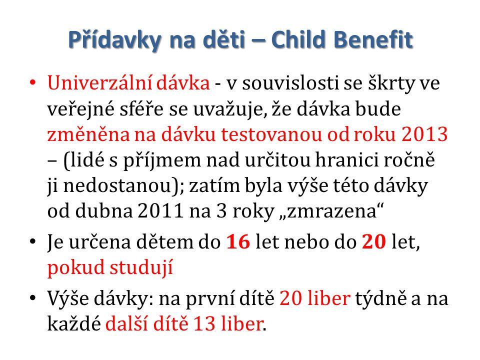 Přídavky na děti – Child Benefit