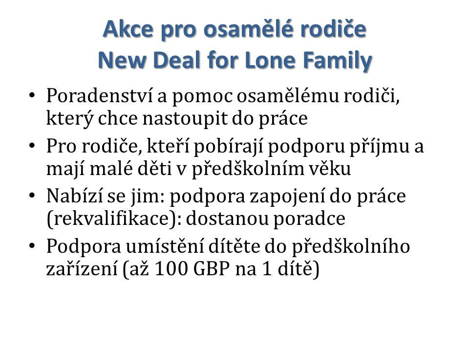 Akce pro osamělé rodiče New Deal for Lone Family