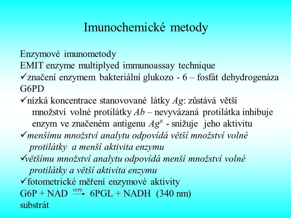Imunochemické metody Enzymové imunometody