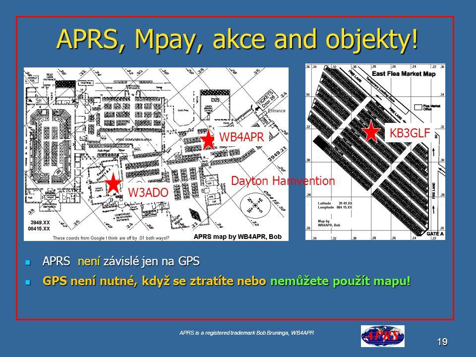 APRS, Mpay, akce and objekty!