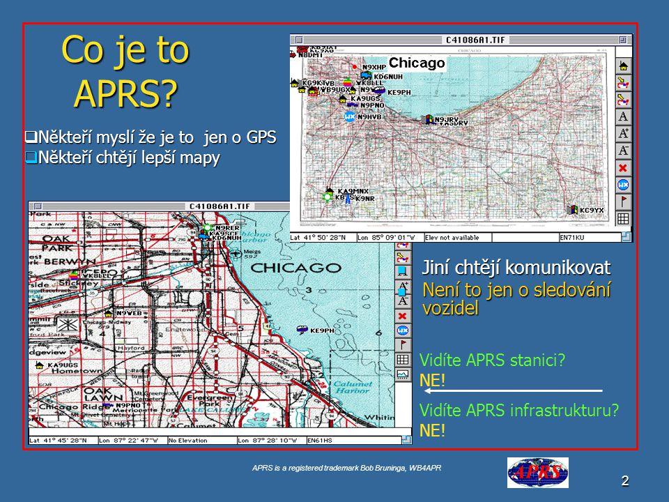 Co je to APRS Jiní chtějí komunikovat Není to jen o sledování vozidel