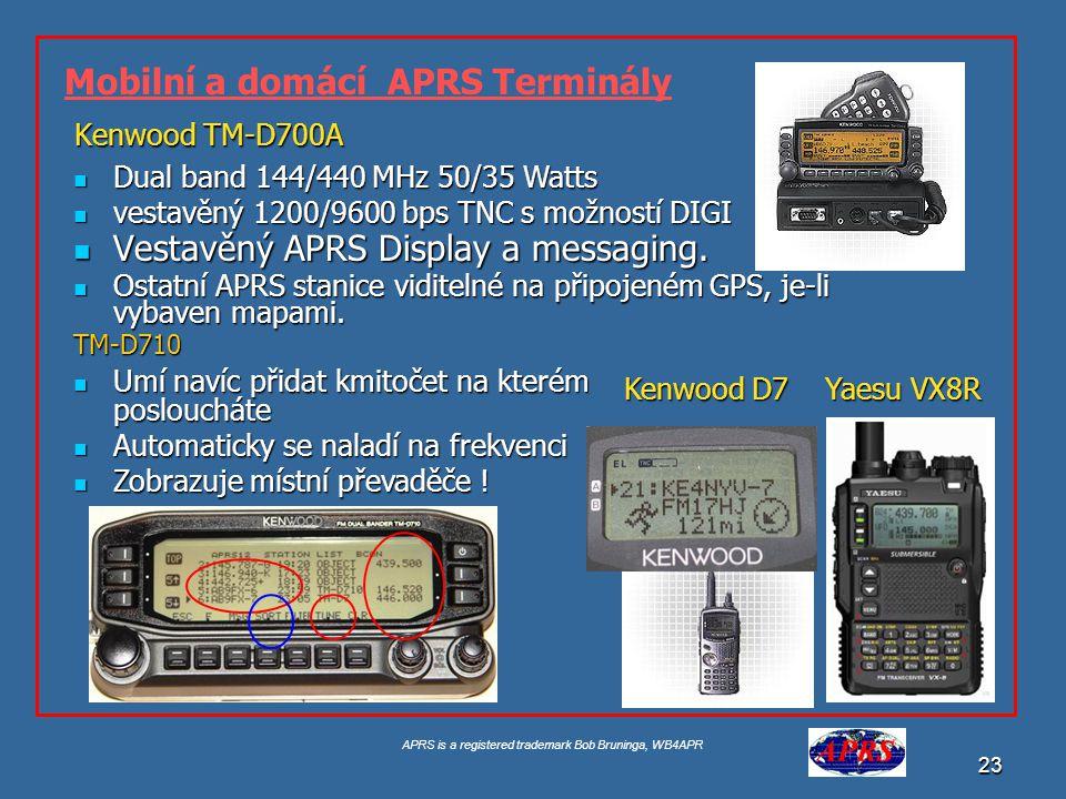 Mobilní a domácí APRS Terminály