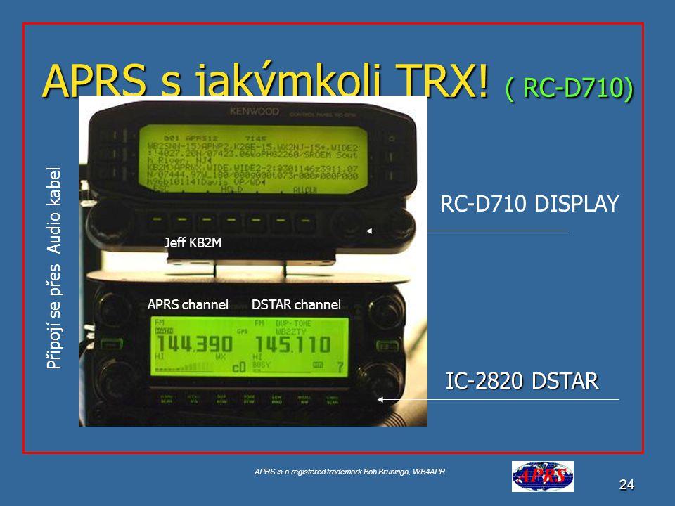 APRS s jakýmkoli TRX! ( RC-D710)