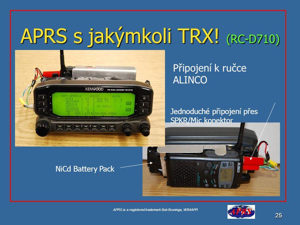 APRS s jakýmkoli TRX! (RC-D710)