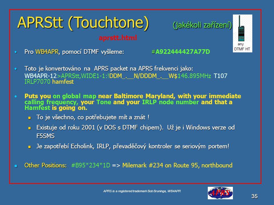 APRStt (Touchtone) (jakékoli zařízení)