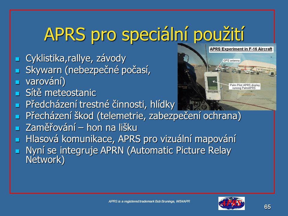 APRS pro speciální použití