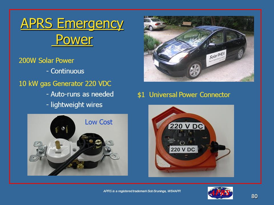 APRS Emergency Power 200W Solar Power - Continuous