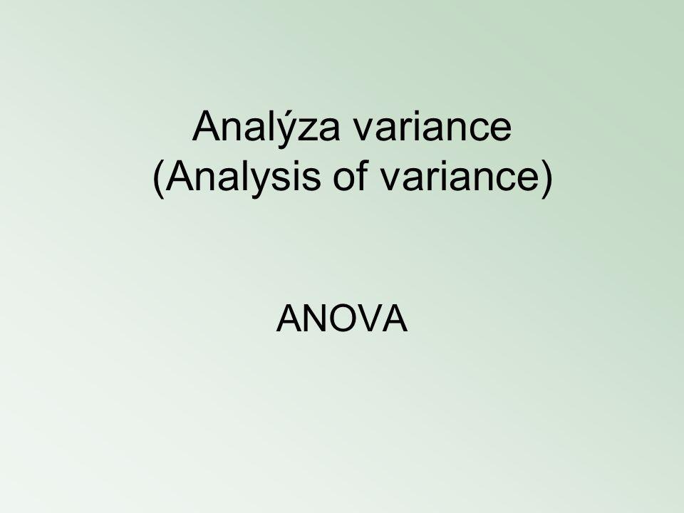 Analýza variance (Analysis of variance)