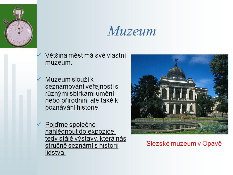 Muzeum Většina měst má své vlastní muzeum.
