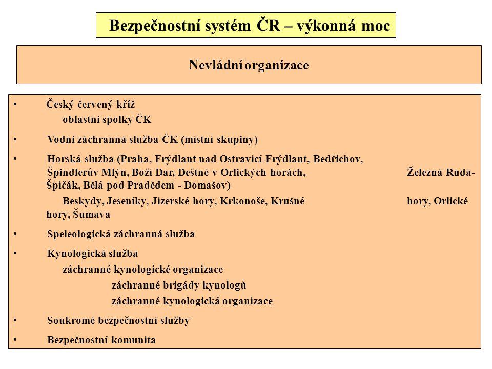Bezpečnostní systém ČR – výkonná moc