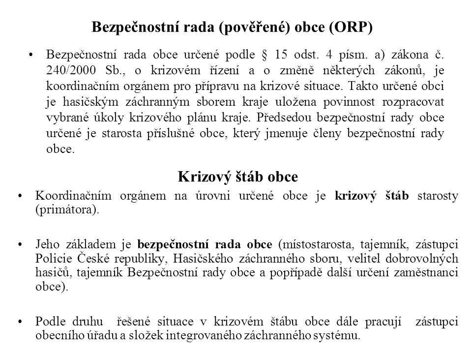 Bezpečnostní rada (pověřené) obce (ORP)