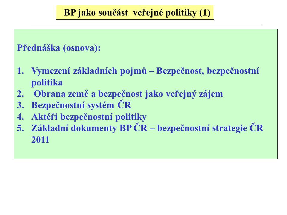BP jako součást veřejné politiky (1)