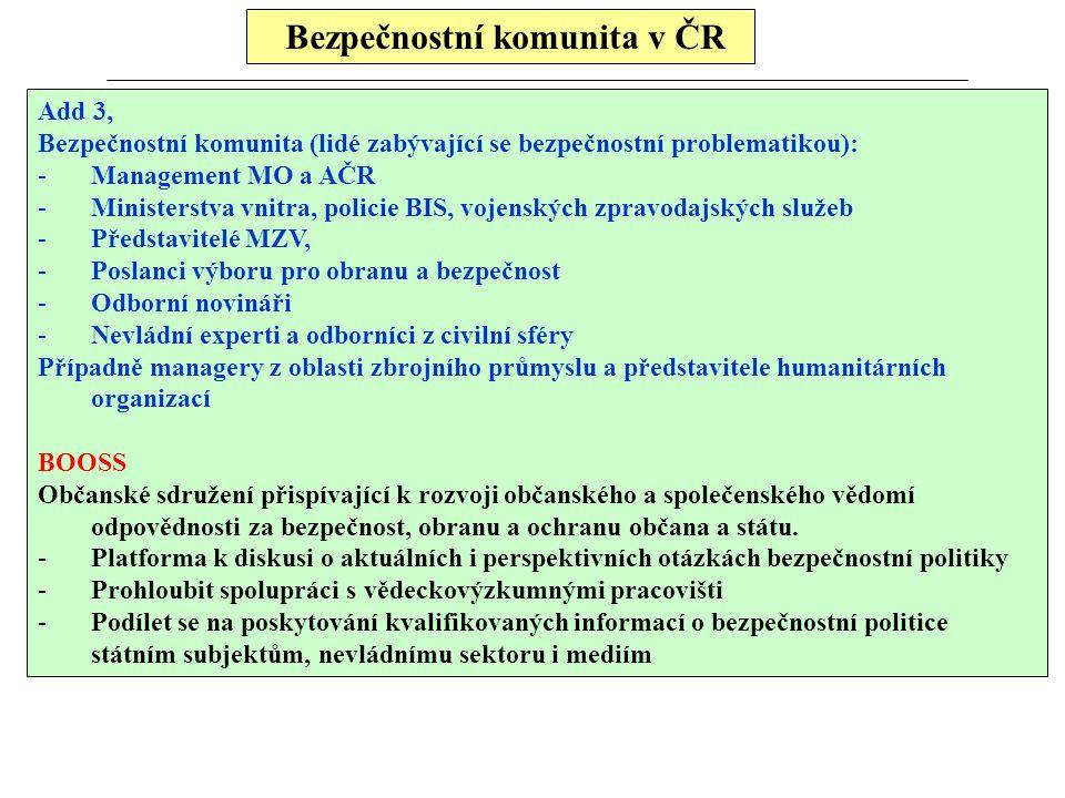 Bezpečnostní komunita v ČR
