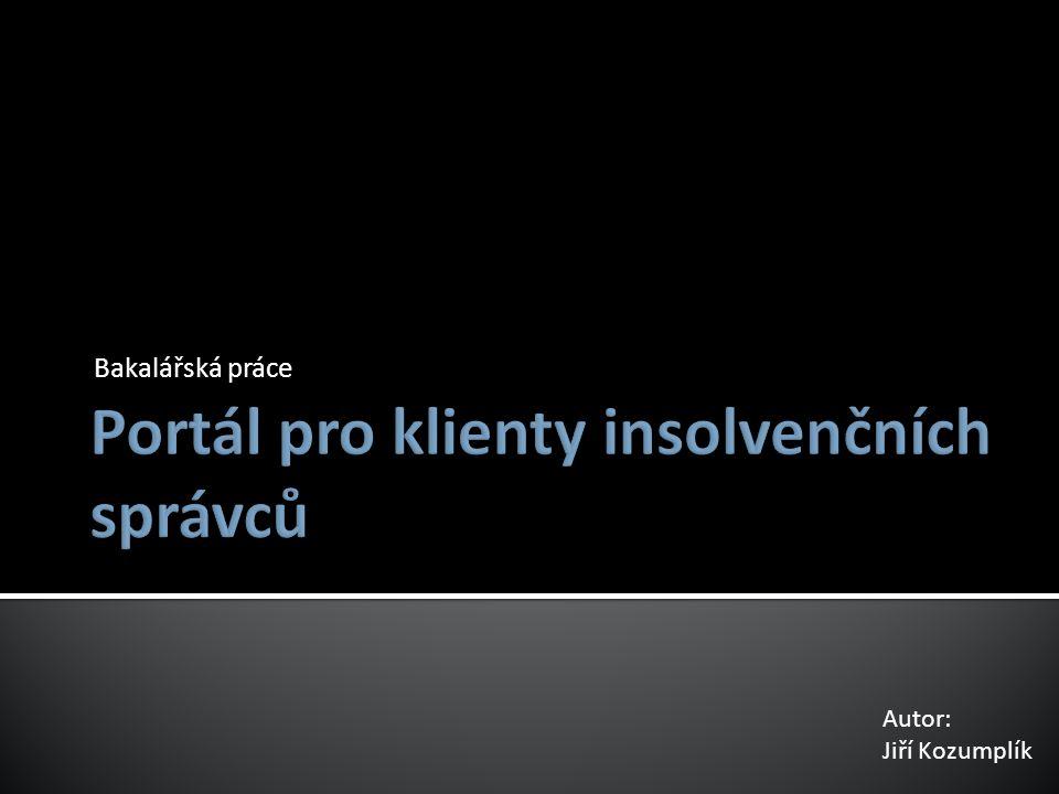 Portál pro klienty insolvenčních správců