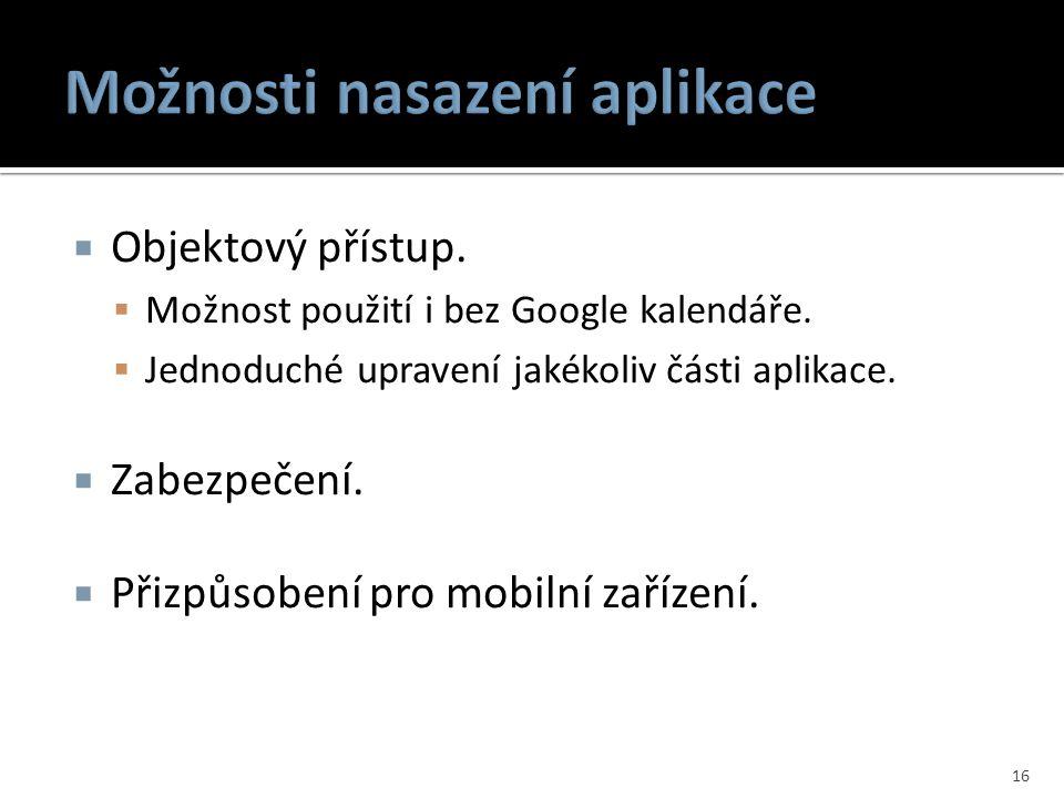 Možnosti nasazení aplikace