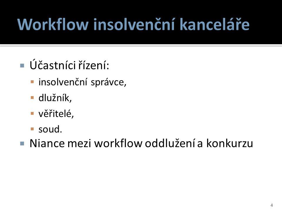 Workflow insolvenční kanceláře