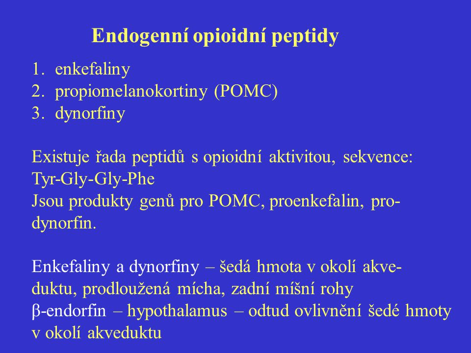 Endogenní opioidní peptidy