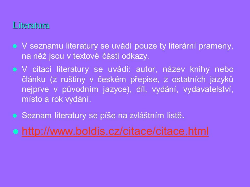 http://www.boldis.cz/citace/citace.html Literatura