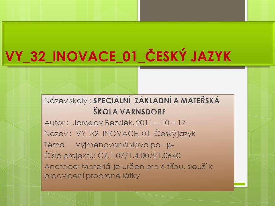 VY_32_INOVACE_01_ČESKÝ JAZYK