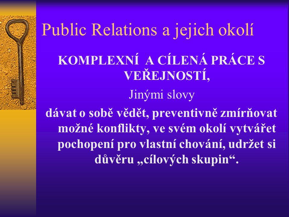 Public Relations a jejich okolí