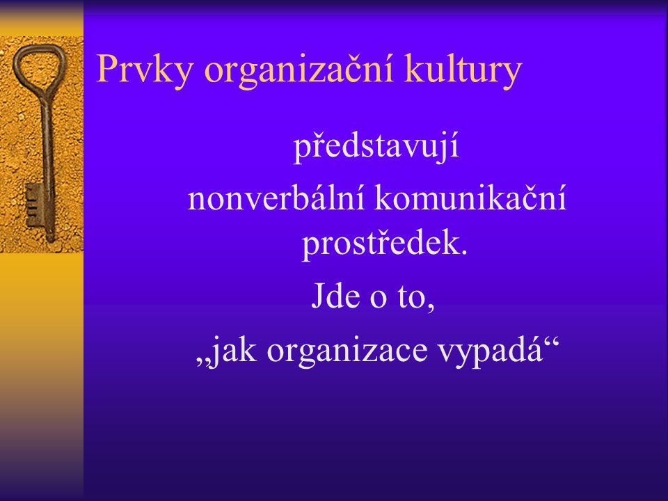 Prvky organizační kultury