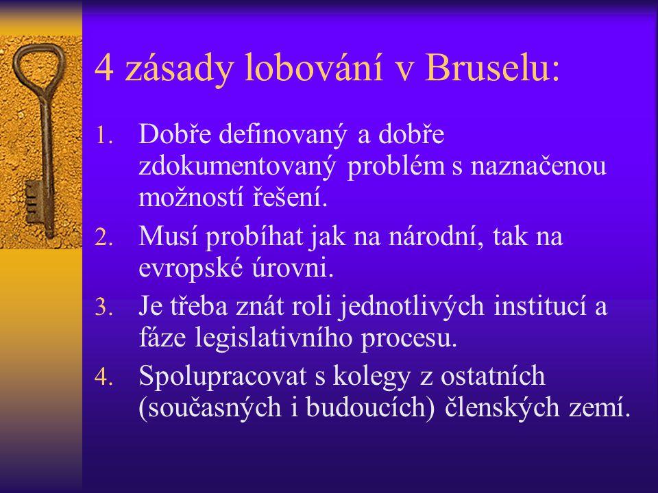 4 zásady lobování v Bruselu: